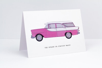 The Holden FB Station Wagon Greeting Card