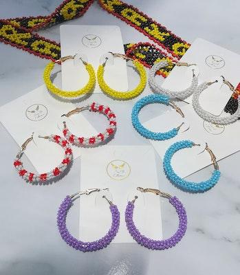 LinqGlo Collections Handmade Beads Earrings; Sarawak/Borneo Earrings; Fashion Earrings; Color Beads Earrings; Toho Beadwork; Gift For Her