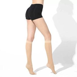 Thin socks-knee high closed toe Class II (20-30 mmhg)
