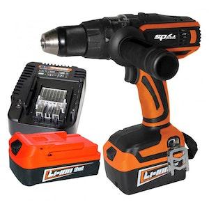 Hammer Driver/Drill 18v Cordless Li-Ion 1650RPM SP81244