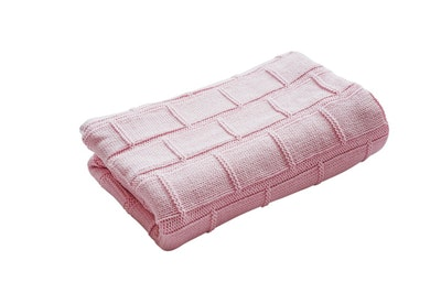 Organic Cotton Baby Blanket - BABY PINK