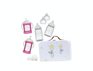 Glass Baby Bottles Starter Kit - Pink