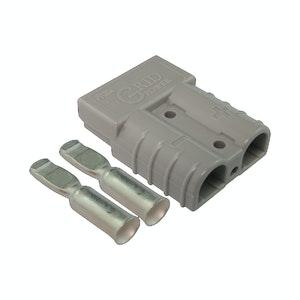 50 amp Anderson Plug Grey (Single) inc Terminals
