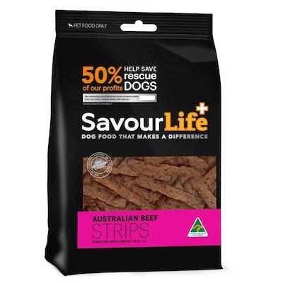 Savourlife Australian Beef Strips Dog Treats 165G