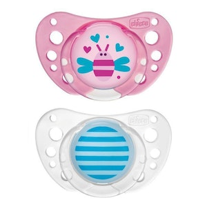 Chicco Latex Physio Air Soother 16-36m 2pk-Girl