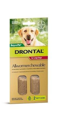 Drontal Dog Wormer Large 35kg 2 pack