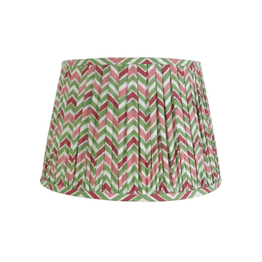 Birdie Fortescue Aegean Chevron Lampshade - Pink/green