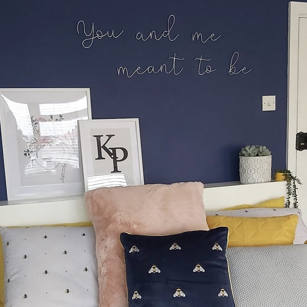 """Wired Mama """"you And Me, Meant To Be..."""" Wall Mounted Three Dimensional Typography"""