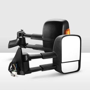 Pair Extendable Towing Mirrors for Holden Rodeo 2003-2008 Black
