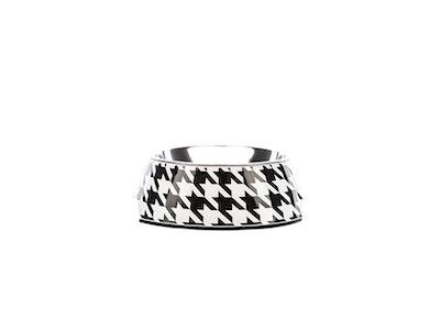 Houndztooth Houndz Dog Bowl - Vintage Black