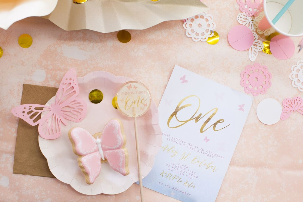LENZO Boho Butterfly First Birthday Party