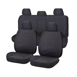 Challenger Car Seat Covers For Mitsubishi Triton Mq-Mr Series Dual Cab 2015-2020 | Charcoal