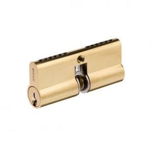 Brava Urban Cylinder For Gainsborough Trilock in Polished Brass