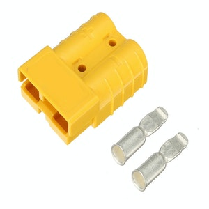 50 amp Anderson Plug Yellow (Single) inc Terminals