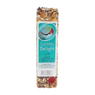 PASSWELL Avian Delight Bird Seed Treat Bar Combo 75g 24 Pack