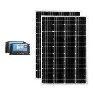 ATEM POWER 2x 12V 130W Solar Battery Charging Kit