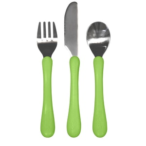 green sprouts Learning Cutlery Green