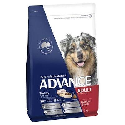 Advance Dry Dog Food Adult 3kg Turkey
