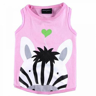 DoggyDolly SMALL DOG - Pink Zebra Doggy T Shirt