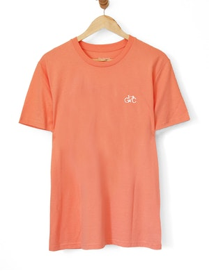 The General Classification GC Wheels Logo Embroidered Tee Orange