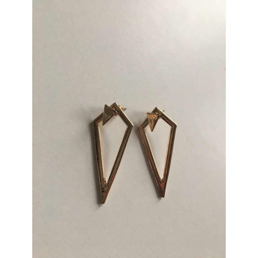 One of a Kind Club Gold Big Diamond Shaped Earrings