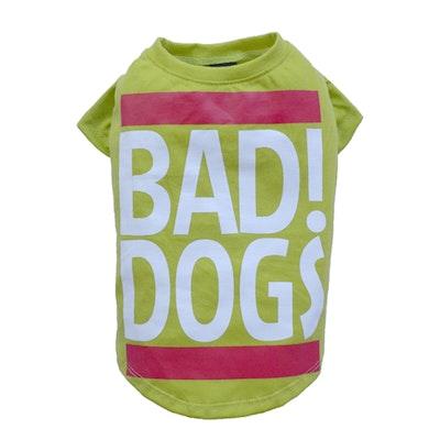 DoggyDolly SMALL DOG - Bad Dog Lime Doggy T Shirt