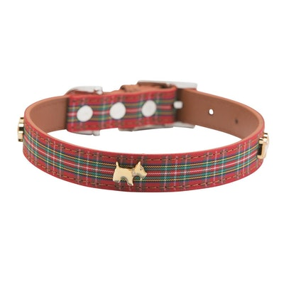 Hamish McBeth Highland Red Tartan Dog Collar