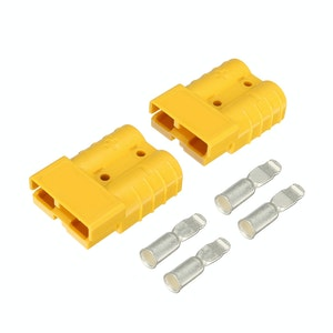 50 amp Anderson Style Plugs (Pair) Yellow inc Terminals
