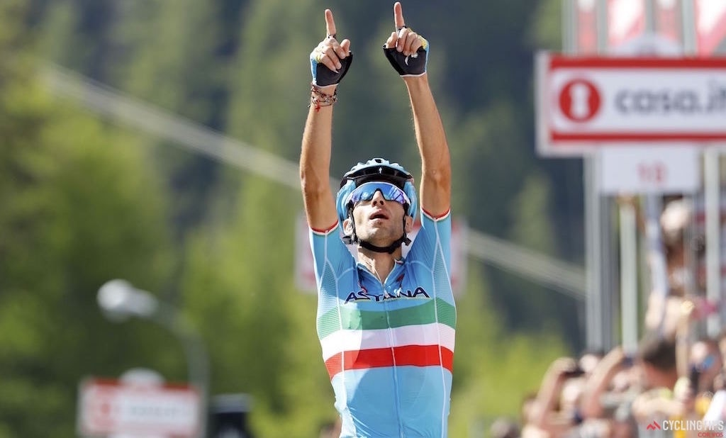 Nibali Takes Stage Win, Chaves Moves into Pink