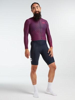 Black Sheep Cycling Men's Racing Aero Long Sleeve Jersey - Pink Slash