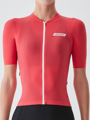 Soomom Women's Essential Cycling Jersey - Red