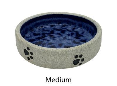 Swanky Paws Blue Ceramic Dog Bowl