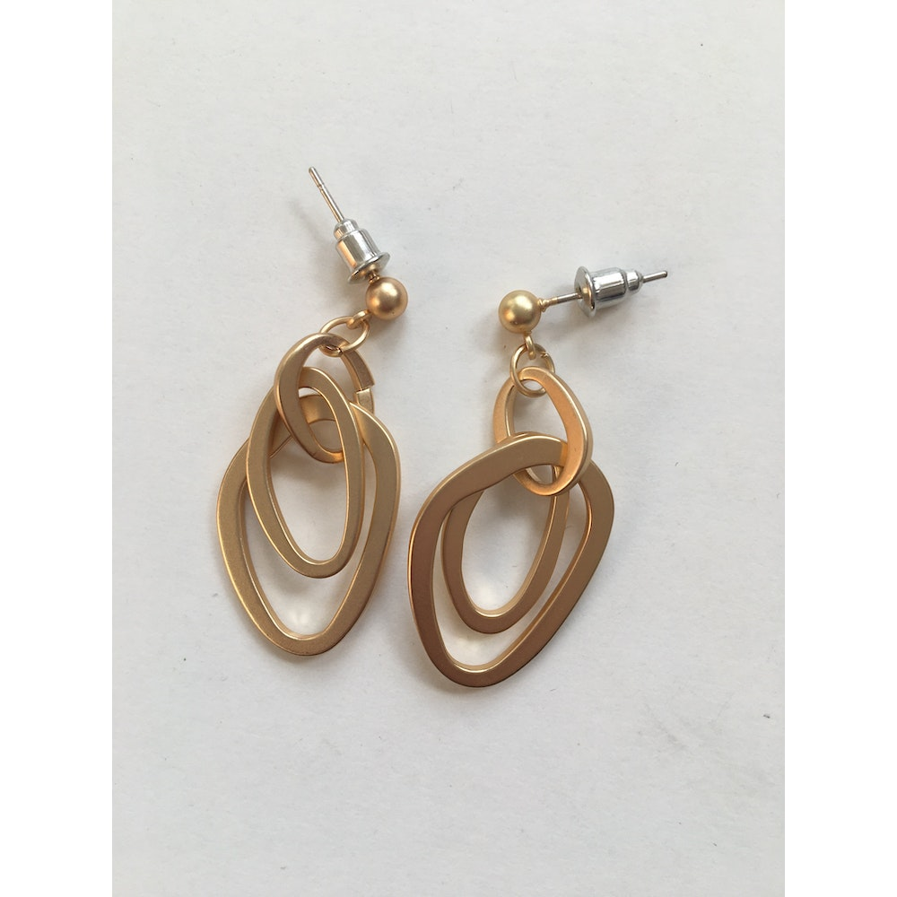 One of a Kind Club Inter-looping Circle Gold Earrings