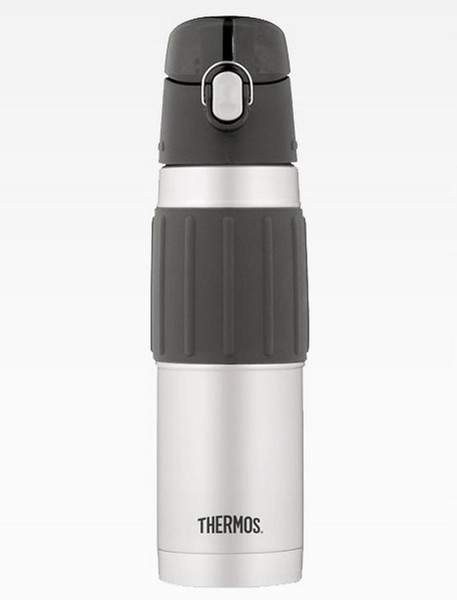 Thermos 500ml Drink Bottle - Double Wall Vacuum Insulated  Stainless Steel The Thermos Vacuum Insulated Hydration Bottle features a double wall vacuum insulation to keep beverages COOL and fresh up to 12 hours.The Thermos Hydration range has a large 500ml capacity for older kids and adults, hygienic push button sipper lid with locking ring and a comfortable rubber grip.  * * Be aware of FAKE Thermos products being soldon ebay.There aremany sellers bothin Australia & overseassellinginferior sub standard replicas.We at Urban Outback Gear are authorised agentsverifiable by Thermos Australia.  About Thermos Founded in 1904, Thermos L.L.C. is the leading manufacturer worldwide of insulated food and beverage containers, children?s lunch kits and other innovative consumer products.