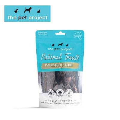 The Pet Project Natural Treats Kangaroo Tube 4 Pack