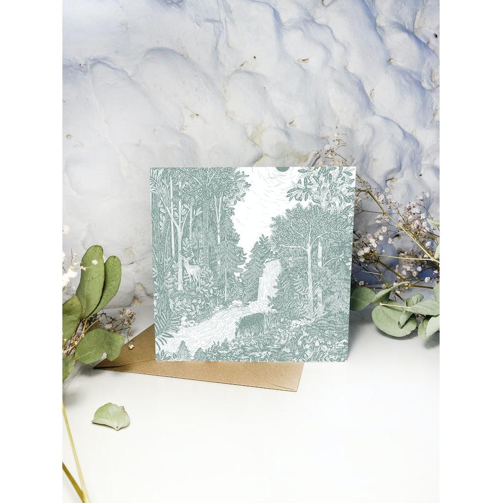 Laura Elizabeth Illustrations Forest Bathe Greetings Card