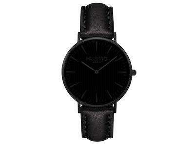 Hurtig Lane Mykonos Vegan Leather Watch All Black & Black