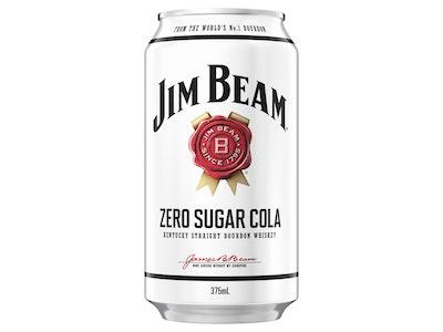 Jim Beam & Zero Cola Can 375mL