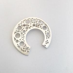 Hoopla Silver Brooch