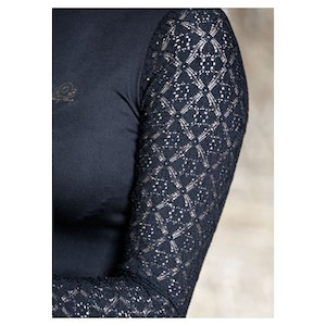 Harry's Horse Show Shirt - Crystal Lace Black
