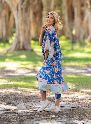Lulubelles Clothing Boho Australia Esta Kimono - Blue