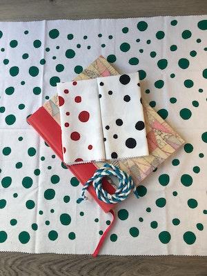Julevidge Boomerang rewrap, reusable fabric gift wrap, dots bundle.