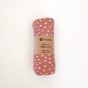 Grubbee Apricot Dots Muslin Wrap