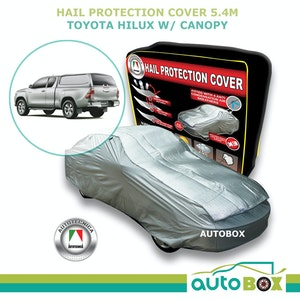 Car Hail Stone Storm Protection Cover 4WD to 5.4m for Toyota Hilux with Canopy