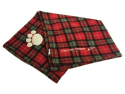 Hamish McBeth Red Tartan Dog Blanket