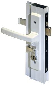 Archie Hardware Archie screen door lock for hinged doors in white finish (Cylinder not included)