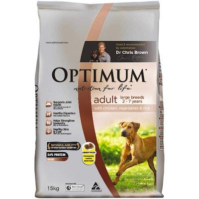 Optimum Large Breed Adult Chicken Dry Dog Food 15kg