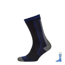 Sealskinz Thin Mid Length Socks Black-Blue