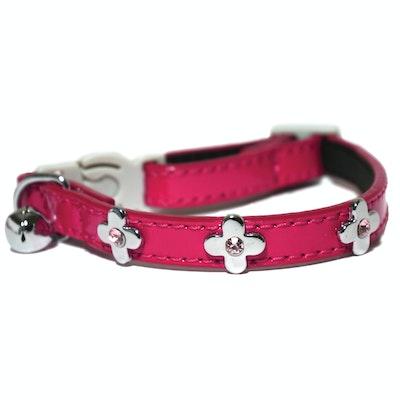 Rosewood Flower Cat Collar