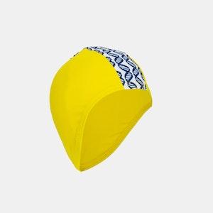 Junior Child Swim Cap - Sunshine Yellow &  DNA